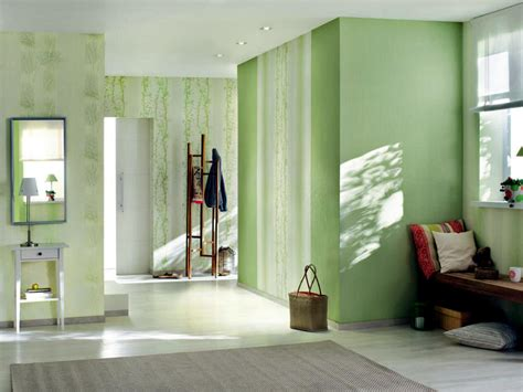 green tones  subtle patterns interior design ideas