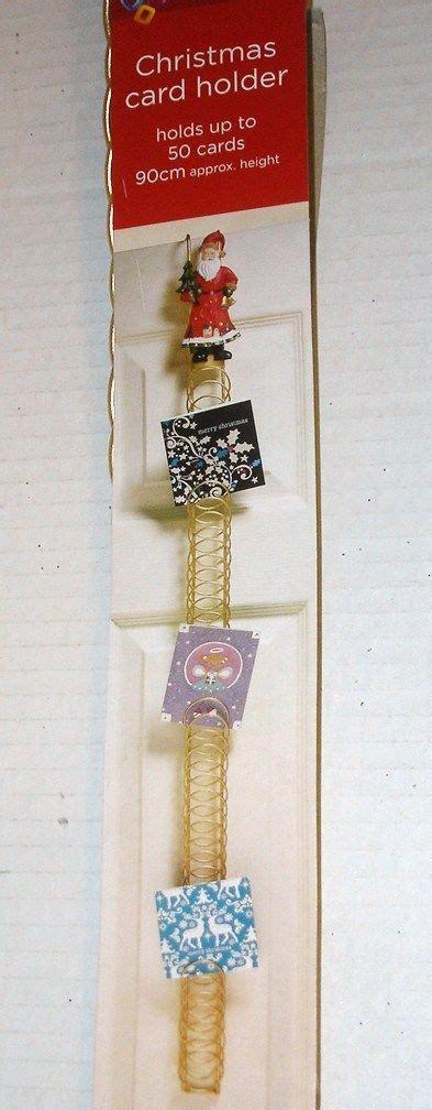 door hanging metal design card holder approx 50 cards santa design south eastern