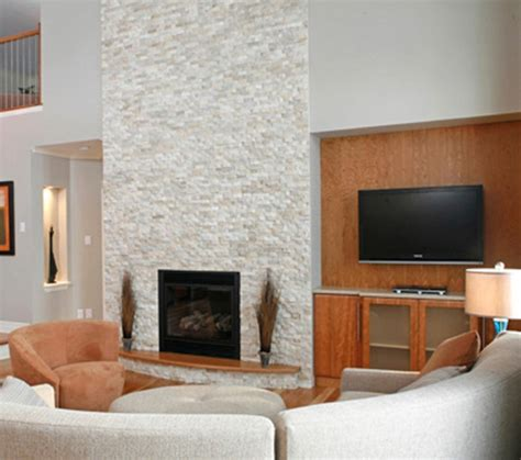 white stacked white stacked stone fireplace fireplace design ideas
