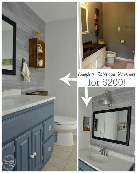 ideas  cheap bathroom remodel  pinterest