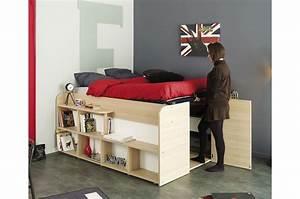 Dressing 2 Personnes : lit combin 140x200 cm gain de place roxy cbc meubles ~ Melissatoandfro.com Idées de Décoration