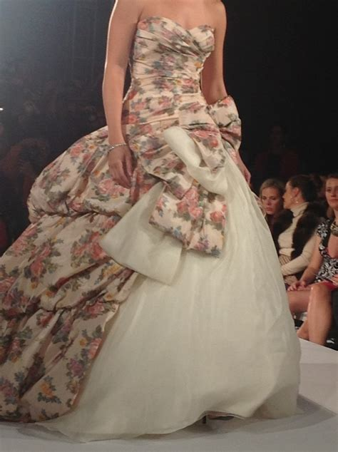 Ian Stuart Floral Wedding Dress For Some Reason Today I