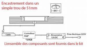 Spot Led Encastrable Plafond Faible Hauteur : kit spots led encastrables rgb plats ~ Melissatoandfro.com Idées de Décoration