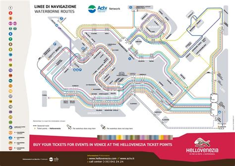 transit maps official map vaporetto routes  venice