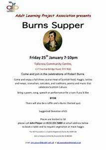 alp burns supper nicaragua learning exchange With burns supper menu template