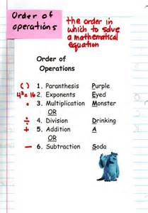 Order of Operations Math Notebook