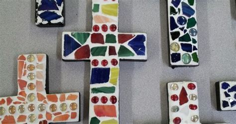 Mosaic Cross Project With Kids