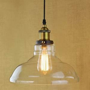 Retro vintage industrial style edison bulb glass pendant