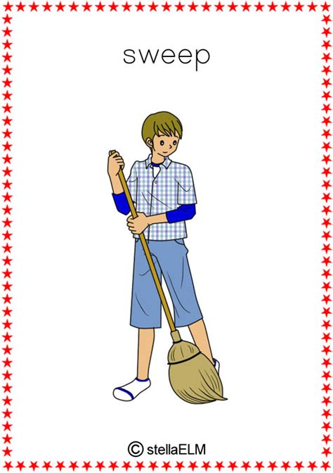 flashcards chores
