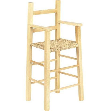 chaise haute en bois pour bébé chaise haute bébé en bois et paille table de lit