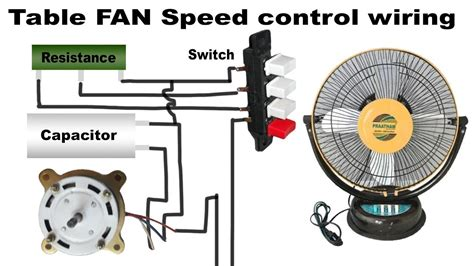 table fan speed wiring