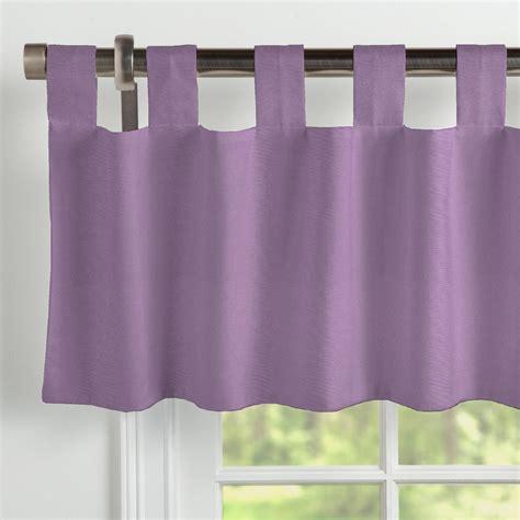 tab valance solid aubergine purple window valance tab top carousel