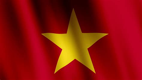 animated flag  vietnam stock footage video