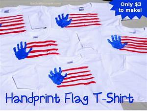 Fun DIY 4th of July Handprint Flag T-Shirts Craft Idea