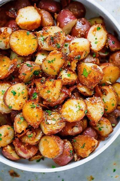 Chicken Roasted Parmesan Potato Potatoes Butter Dishes