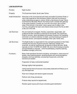 auditor job description example 9 free pdf documents With example of a job description template