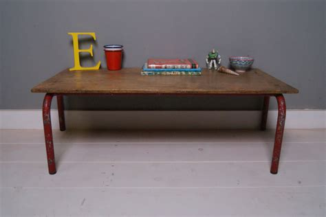 small metal table l childrens small vintage red metal legged table blue