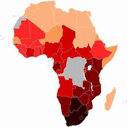Hiv Africa Aids Map Svg South Wikipedia