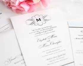 fancy wedding invitations elegance monogram wedding invitations wedding invitations by shine