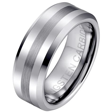 8mm scratch resistant luxury mens tungsten carbide wedding engagement ring ebay