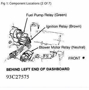 1992 Subaru Legacy Fuel Pump Relay  I Am So Close To The