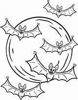 Bats Coloring Halloween Printable Bat Sheet Page5 Wickedbabesblog sketch template