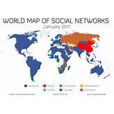 La mappa dei social network nel mondo - gennaio 2017 ...