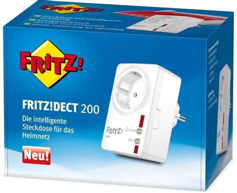 Fritzbox Smart Home Steuerung Testvergleich by Fritz Dect 200 Intelligente Funk Steckdose Avm