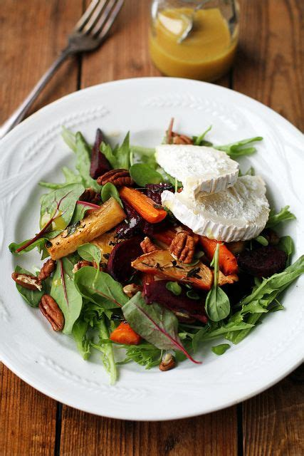 Roasted Root Vegetable And Goat Cheese Salad  Lick Your