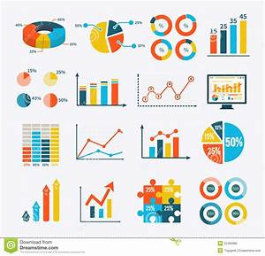 Infographic Set Graph And Charts  Diagrams Stock Vector