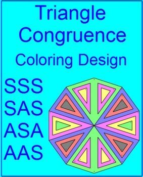 triangles congruent triangles coloring activity  sss