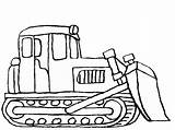 Coloring Construction Bulldozer Truck Pages Clipart Excavator Drawing Sketch Vehicles Backhoe Digger Printable Cartoon Dozer Clip Cliparts Tractor Deere John sketch template
