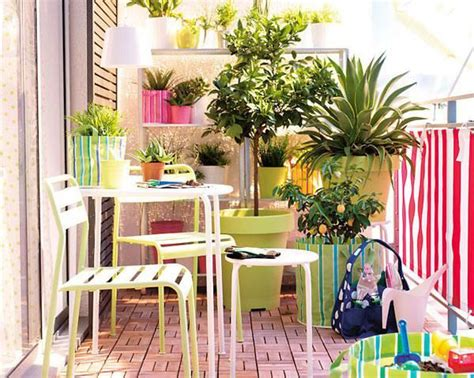 colorful decorating ideas for small colorful tiny balcony decoration