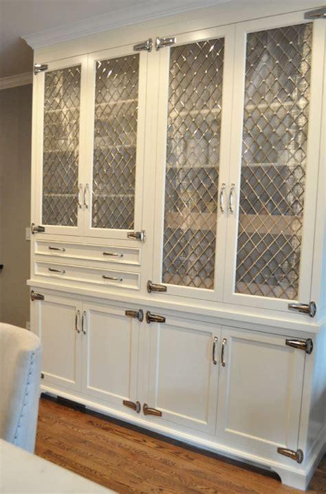 Cabinet Design: Metal Mesh Cabinet Inserts