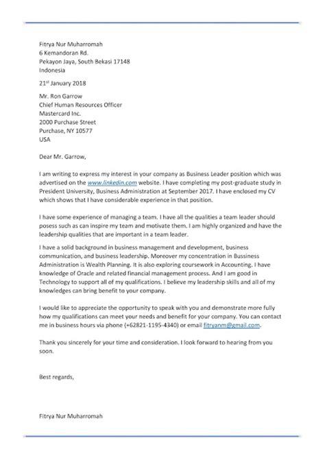 Contoh Application Letter Untuk Magang Dalam Bahasa Inggris by Contoh Resume Bahasa Indonesia Dan Inggris Contoh Cv