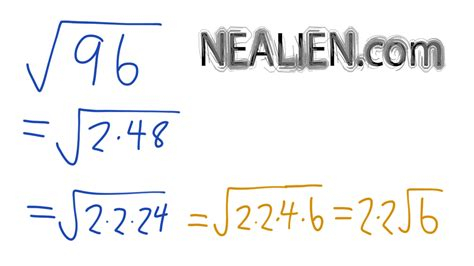 how to do simple radical form what is the square root of 96 in radical form