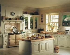 25 inspiring and delightful traditional kitchen designs With kitchen colors with white cabinets with art nouveau wall clock