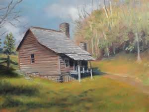 Cabin Blue Ridge Mountains Paintings