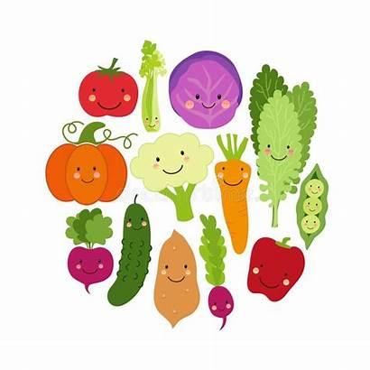 Veggies Cartoon Vegetables Eat Verdure Fondo Delle