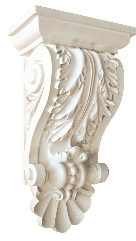 Wall Corbels by Corbel Decorative Leaf 14 X8 Inch Primed White Bracket For