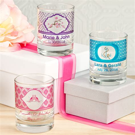 personalized shot glass votive candle holder  clear