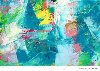Canvas Colorful Painted Als Figurative Non Backgrounds