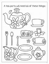 Tea Coloring Pages Boston Printable Enchanted Teaparty Word Getcolorings sketch template