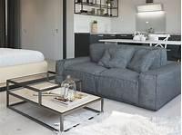 furniture for studio apartments Studio Apartment Interior Design With Cute Decorating Ideas - RooHome | Designs & Plans
