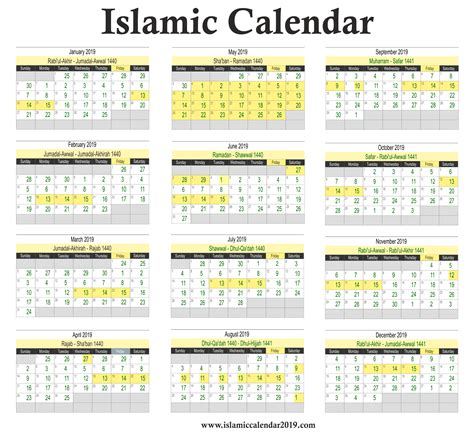 islamic calendar hijri calendar calendar