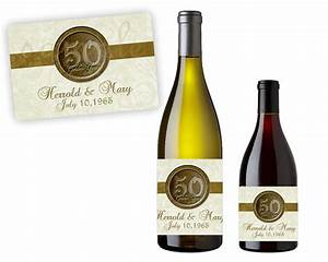50th anniversary party favors gold 50th wedding With 50th wedding anniversary wine labels