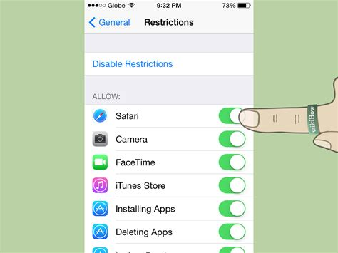 block websites on iphone how to block safari on iphone or ipod touch 7 steps