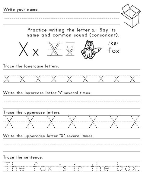 the letter x sight words reading writing spelling worksheets