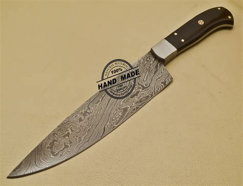 custom kitchen knives custom handmade damascus steel chef kitchen knife with