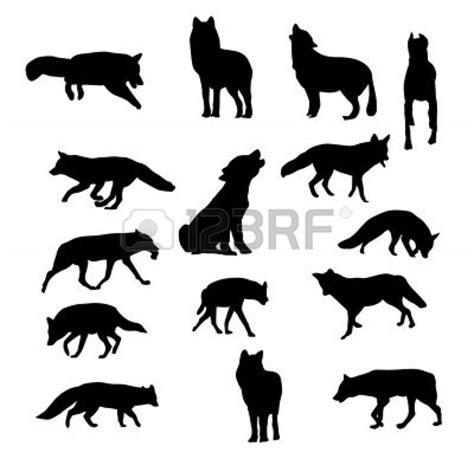 dog wolf fox silhouette vector craft time pinterest